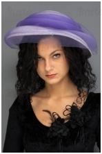 Alyvinė retro skrybėlė