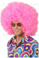 Disko rožinis perukas