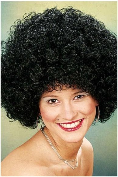 Disko juodas perukas