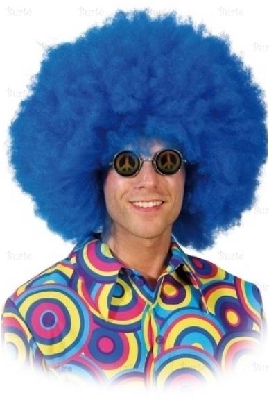 Disko mėlynas perukas