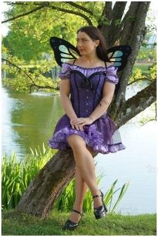Fėjos - drugelio kostiumas