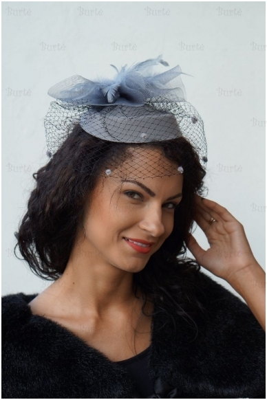 Pilka retro skrybėlaitė 2