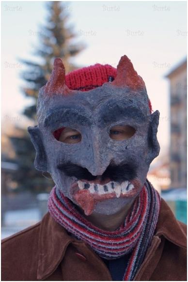Užgavėnių velnio kaukė