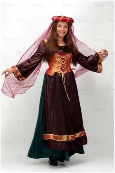 Viduramžių miestelėnės kostiumas