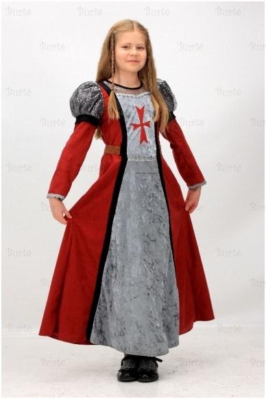 Viduramžių princesės kostiumas