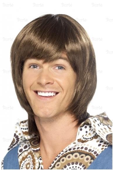 Vyriškas rudas perukas ABBA